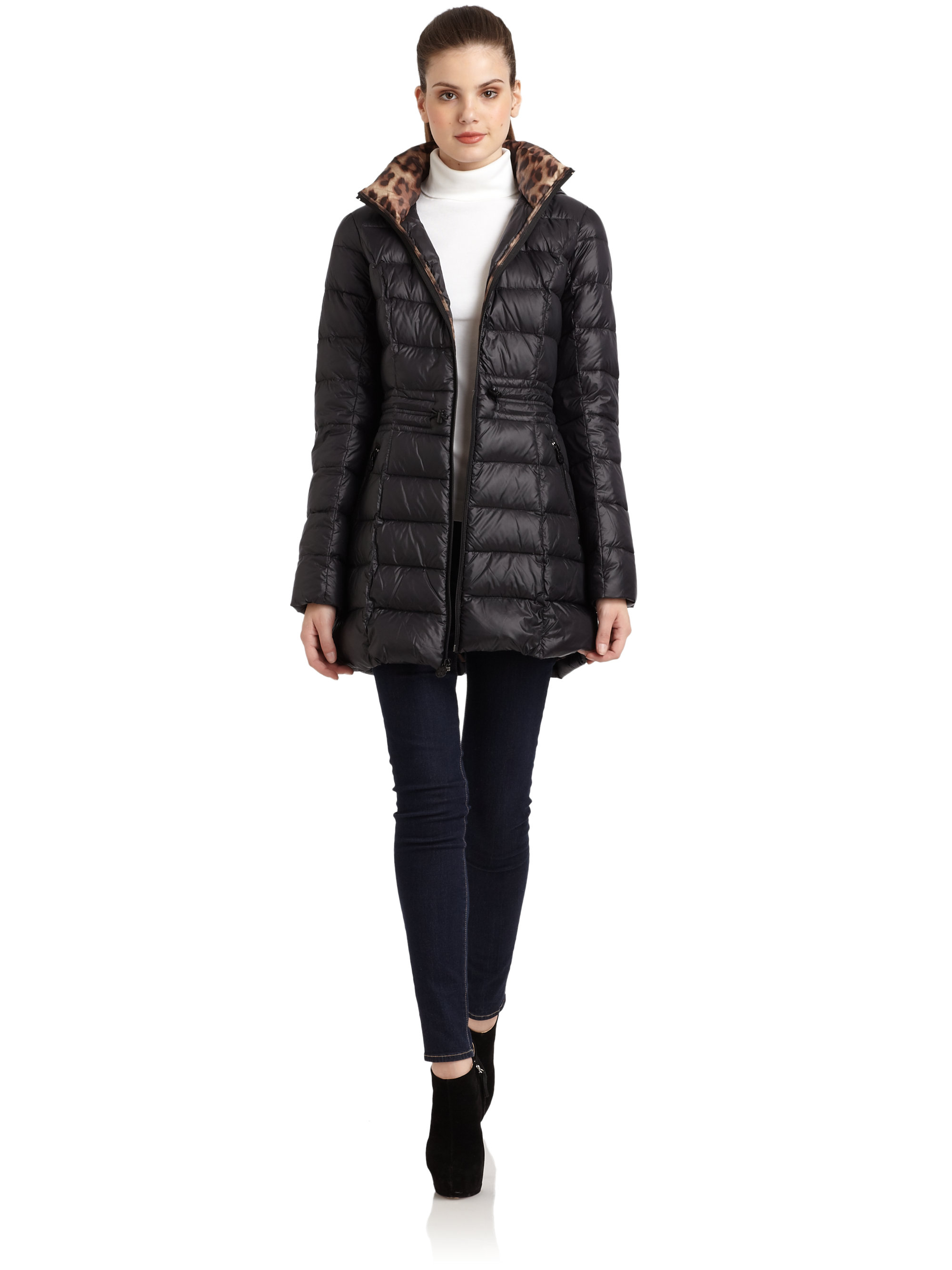 Laundry by shelli segal packable down coat in black lyst
