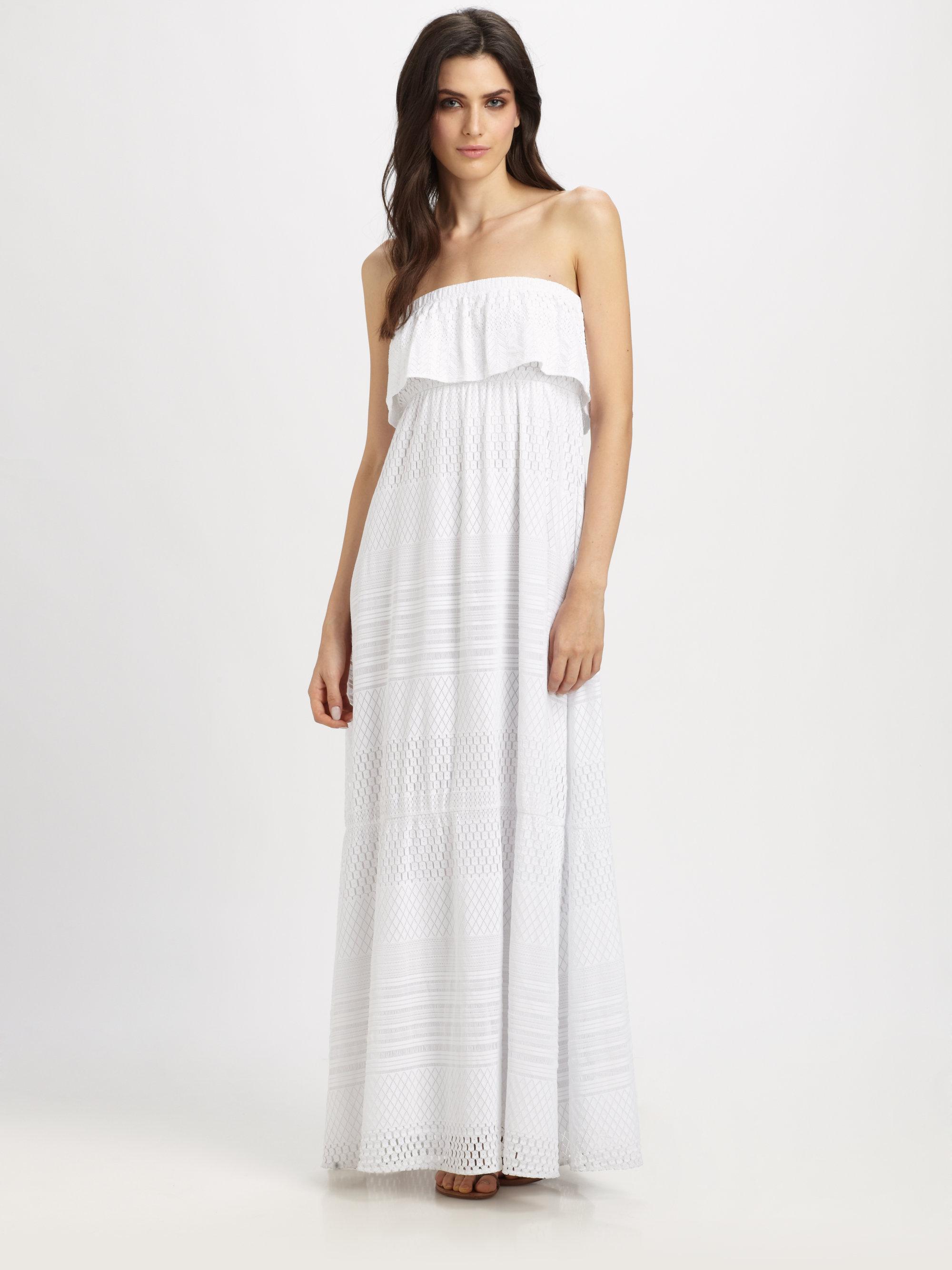 Lyst Melissa Odabash Crochet Strapless Maxi Dress In White