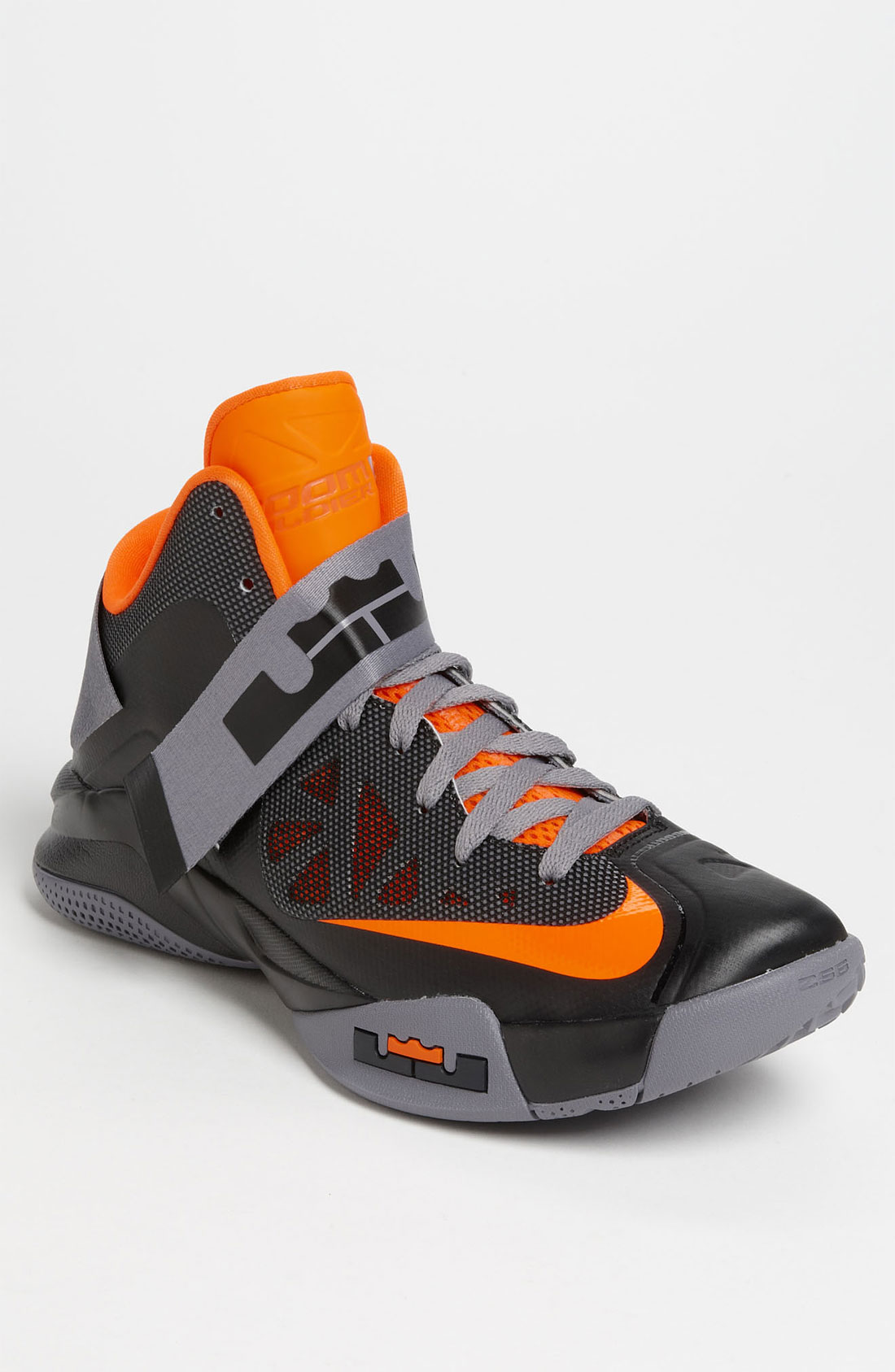 nike basketball shoes orange and black