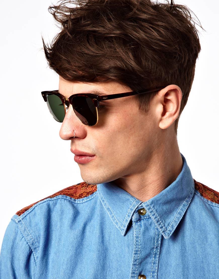 ebdd91423b8 Gallery. Men s Ray Ban Clubmaster Men s Acetate Sunglasses ...