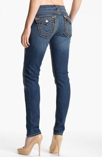 true religion julie skinny stretch jeans silent storm in. Black Bedroom Furniture Sets. Home Design Ideas