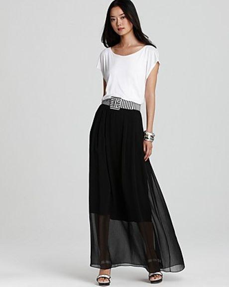 Alice Olivia Belted Dress In White White Black Lyst