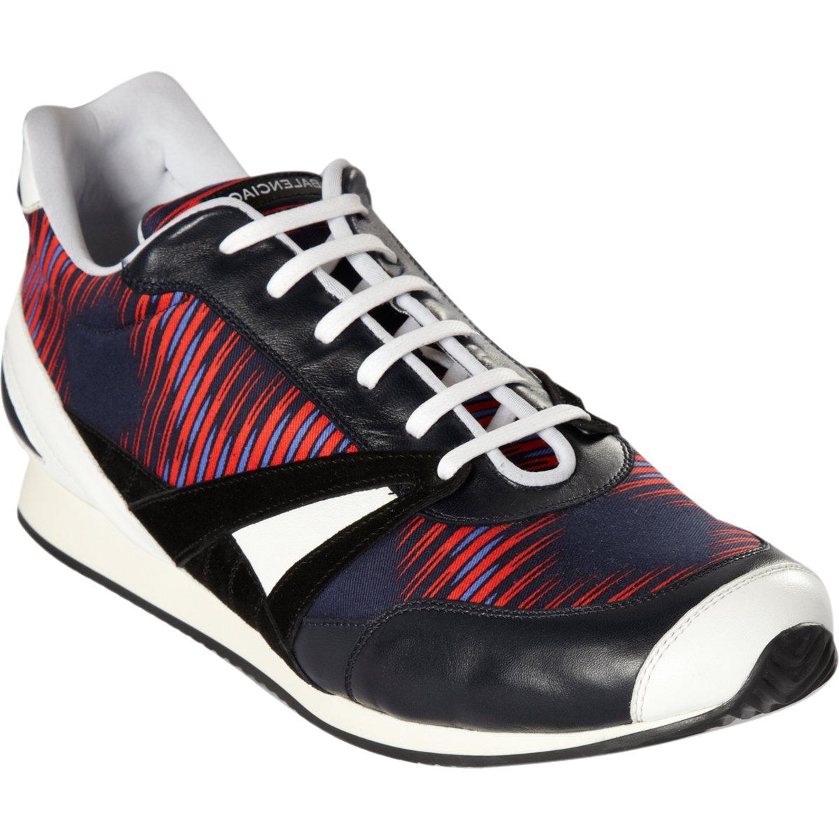 balenciaga low top sneakers in multicolor for men blue lyst. Black Bedroom Furniture Sets. Home Design Ideas