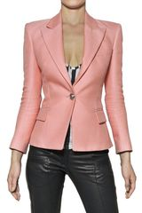 Balmain Cotton and Silk Piqué Jacket