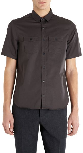 Burberry Prorsum Short Sleeve Shirt - Lyst
