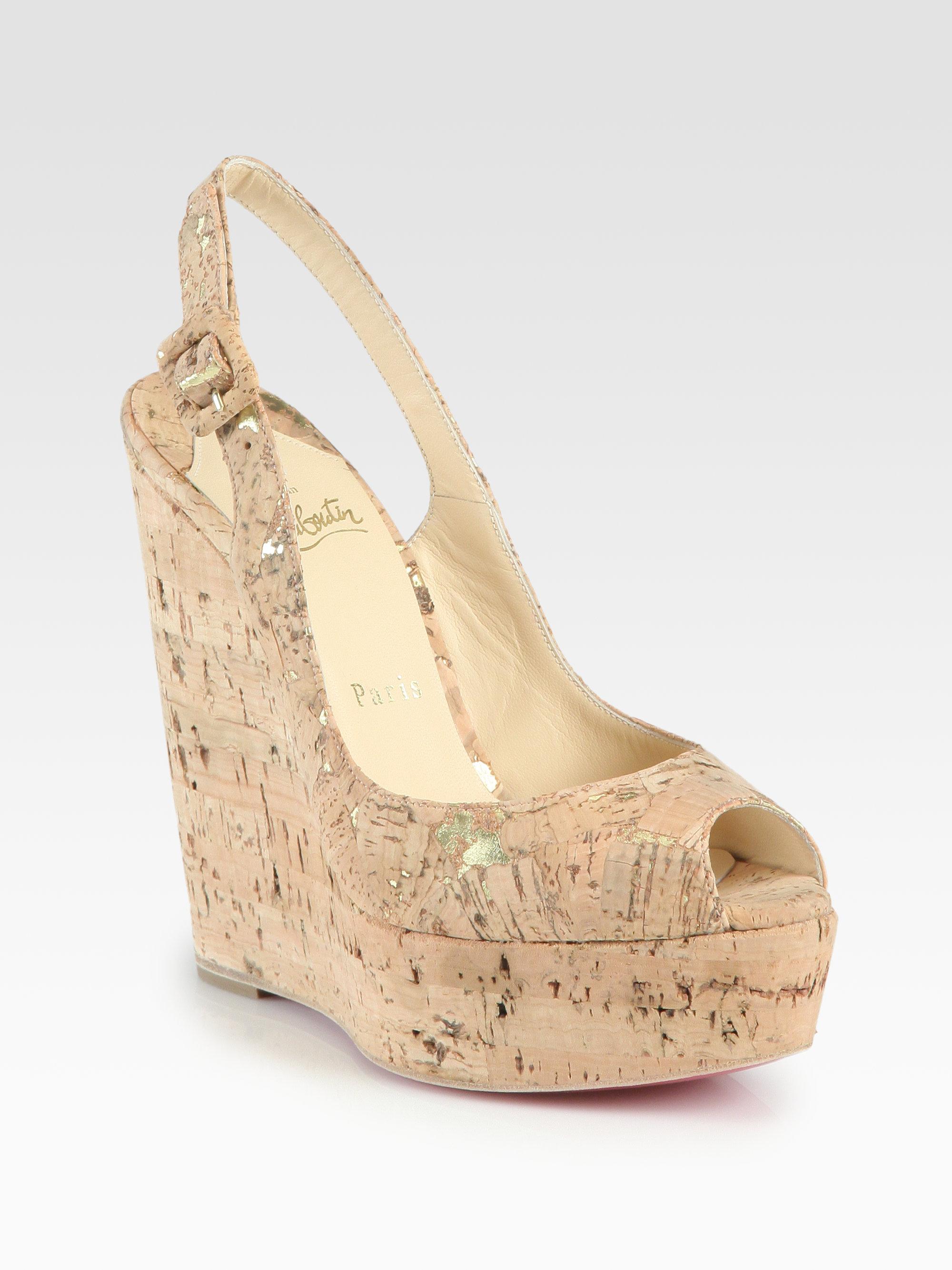 christian louboutin slingback sandals