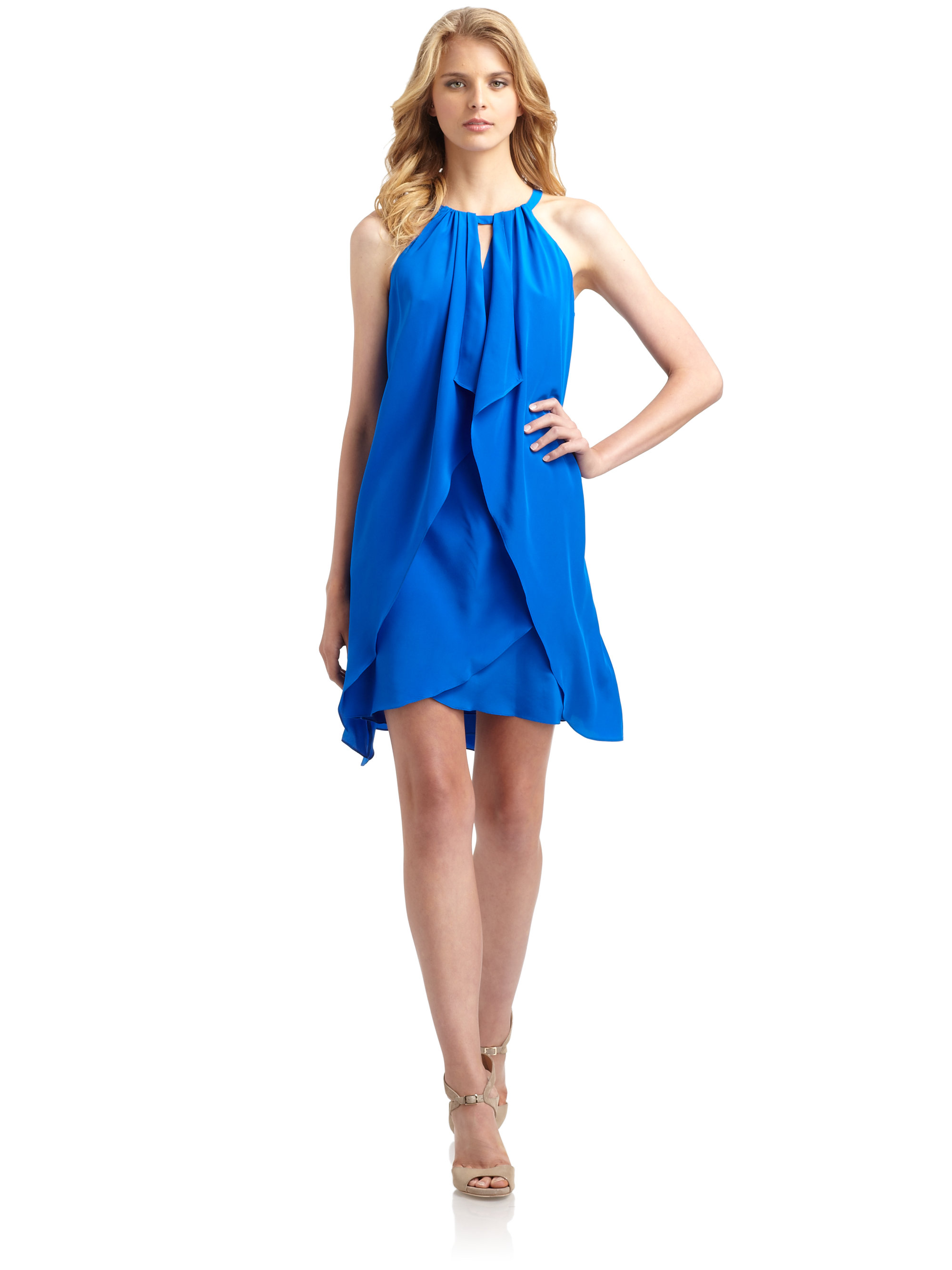 Silk Blue Dress