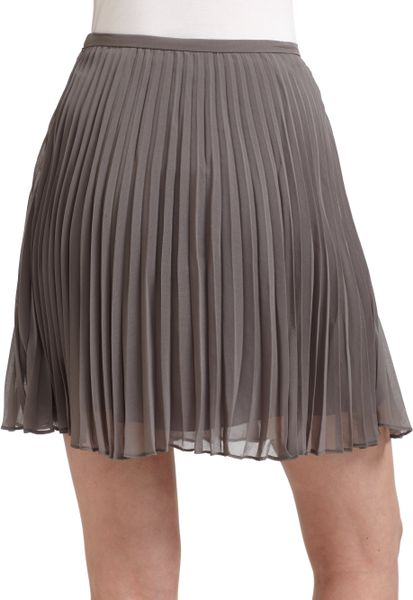 heritage pleated skirt grey in gray grey