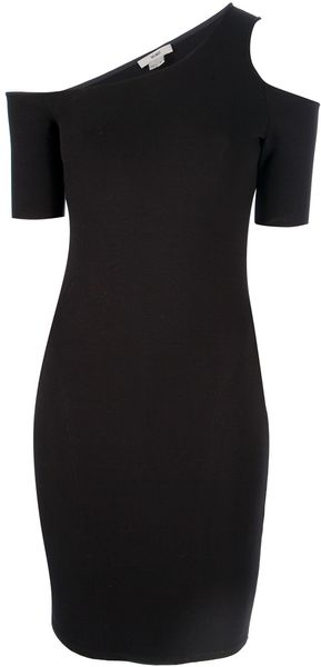 Helmut Asymmetric Dress in Black - Lyst