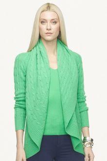Ralph Lauren Black Label Cashmere Circle Cardigan - Lyst