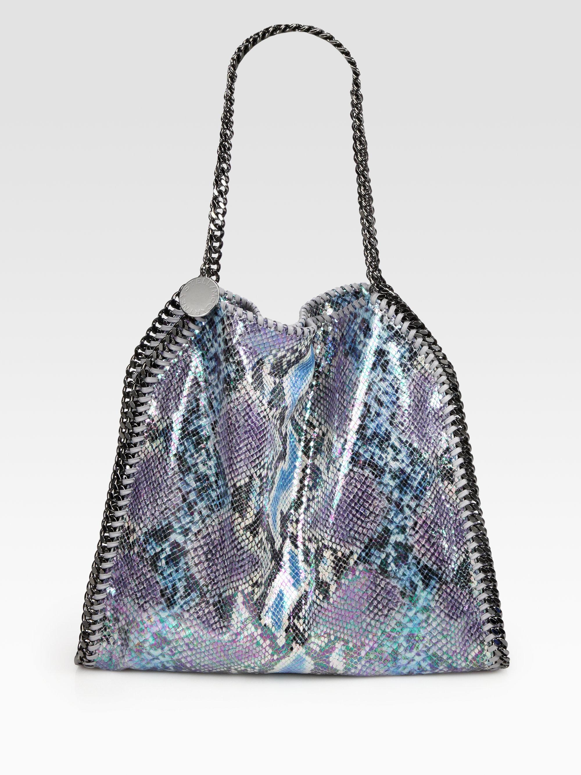 803fb5f95405 Lyst - Stella McCartney Falabella Python Print Shoulder Bag in Blue