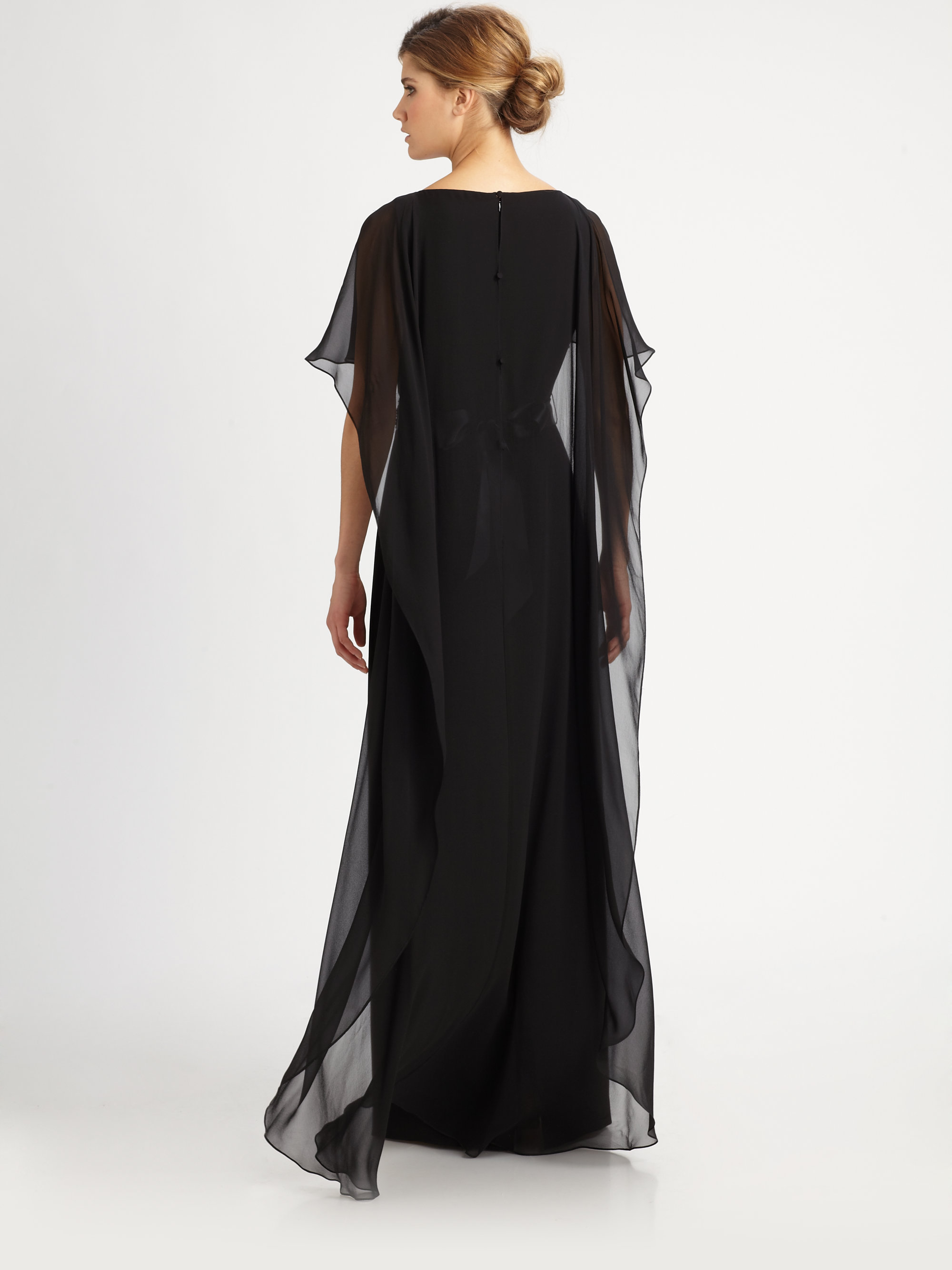 Chiffon Capelet Gown