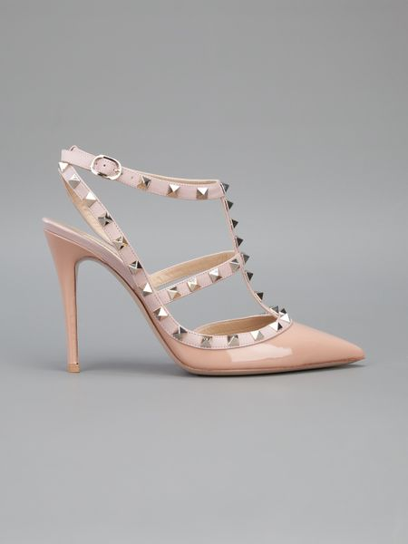 Valentino Studded Sandal In Beige Nude Lyst