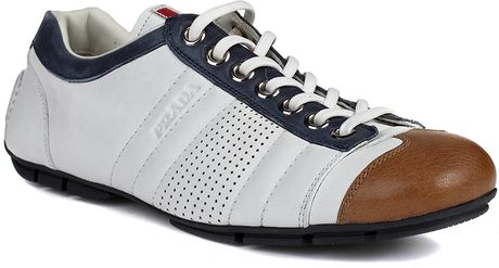 Prada Prada Shoes White in White for Men