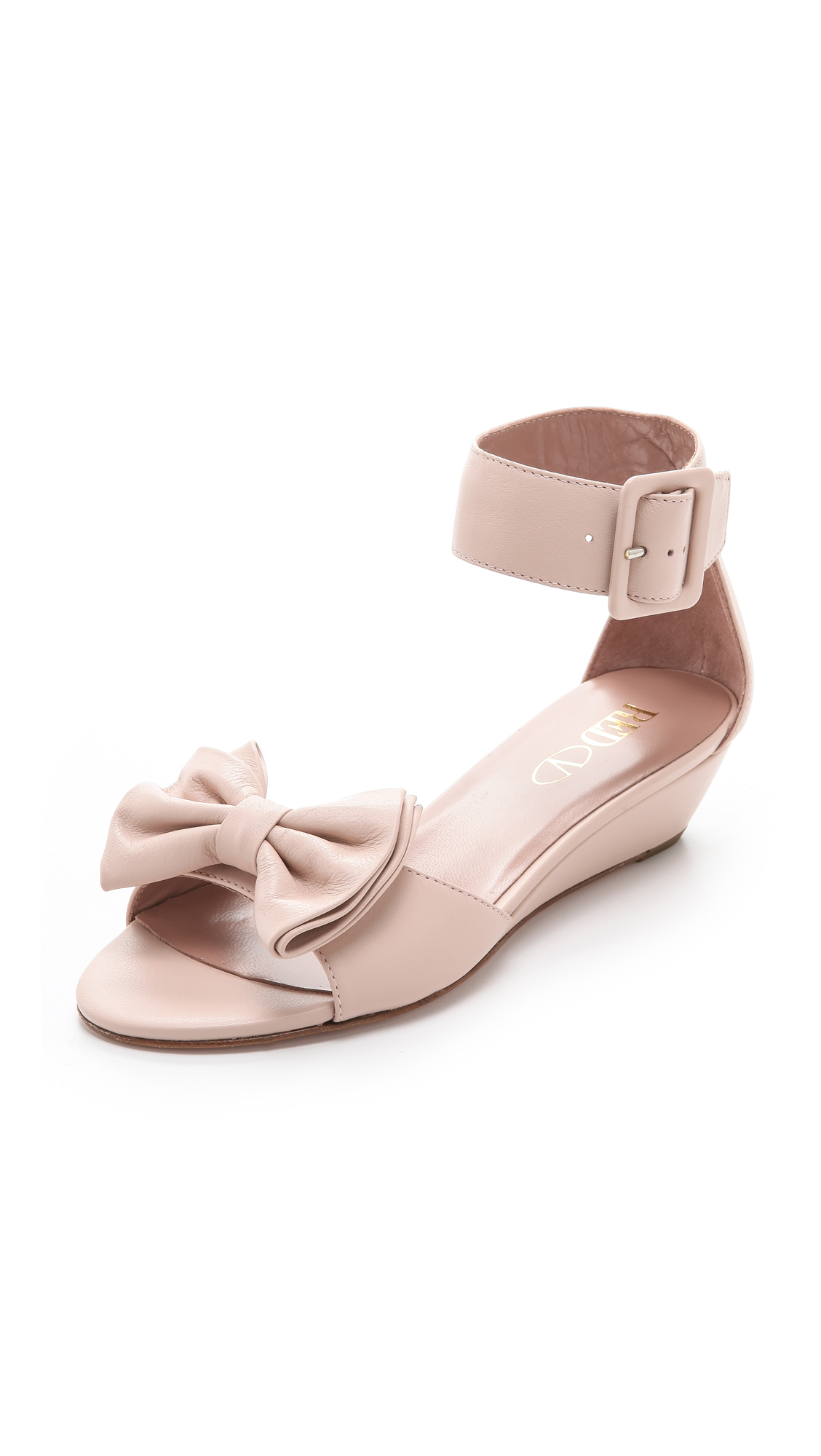 9cc250dfdf4 Lyst - RED Valentino Ankle Strap Bow Sandals in Pink