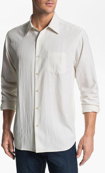 Tommy Bahama Skyscraper Silk Sport Shirt Big Tall In Brown