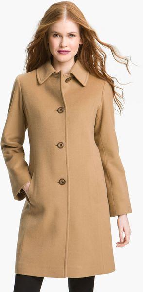 Fleurette Cashmere Wool Car Coat In Beige Camel Lyst
