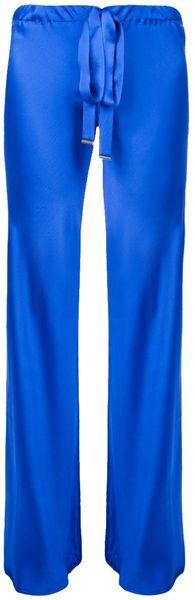 Roberto Cavalli Wide Leg Trouser in Blue (marine)