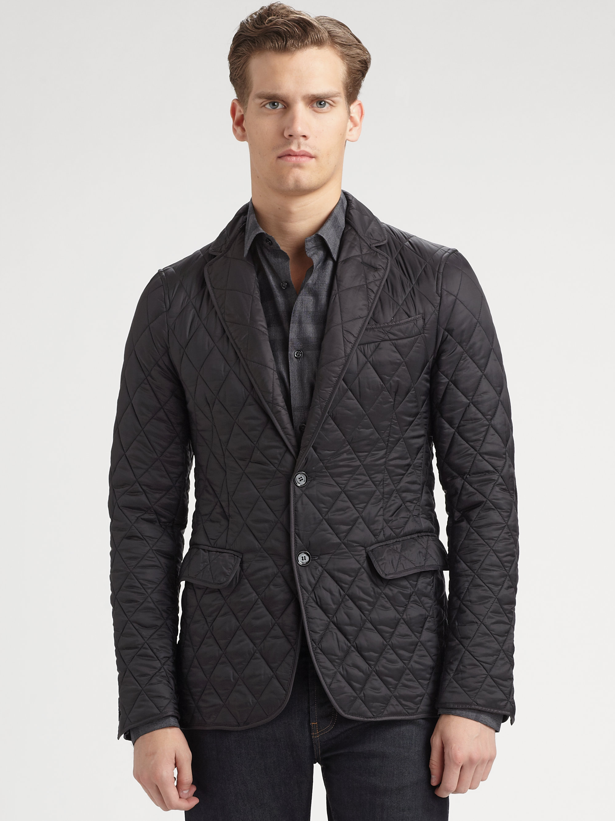 Burberry Ledbury Quilted Blazer In Black For Men Lyst