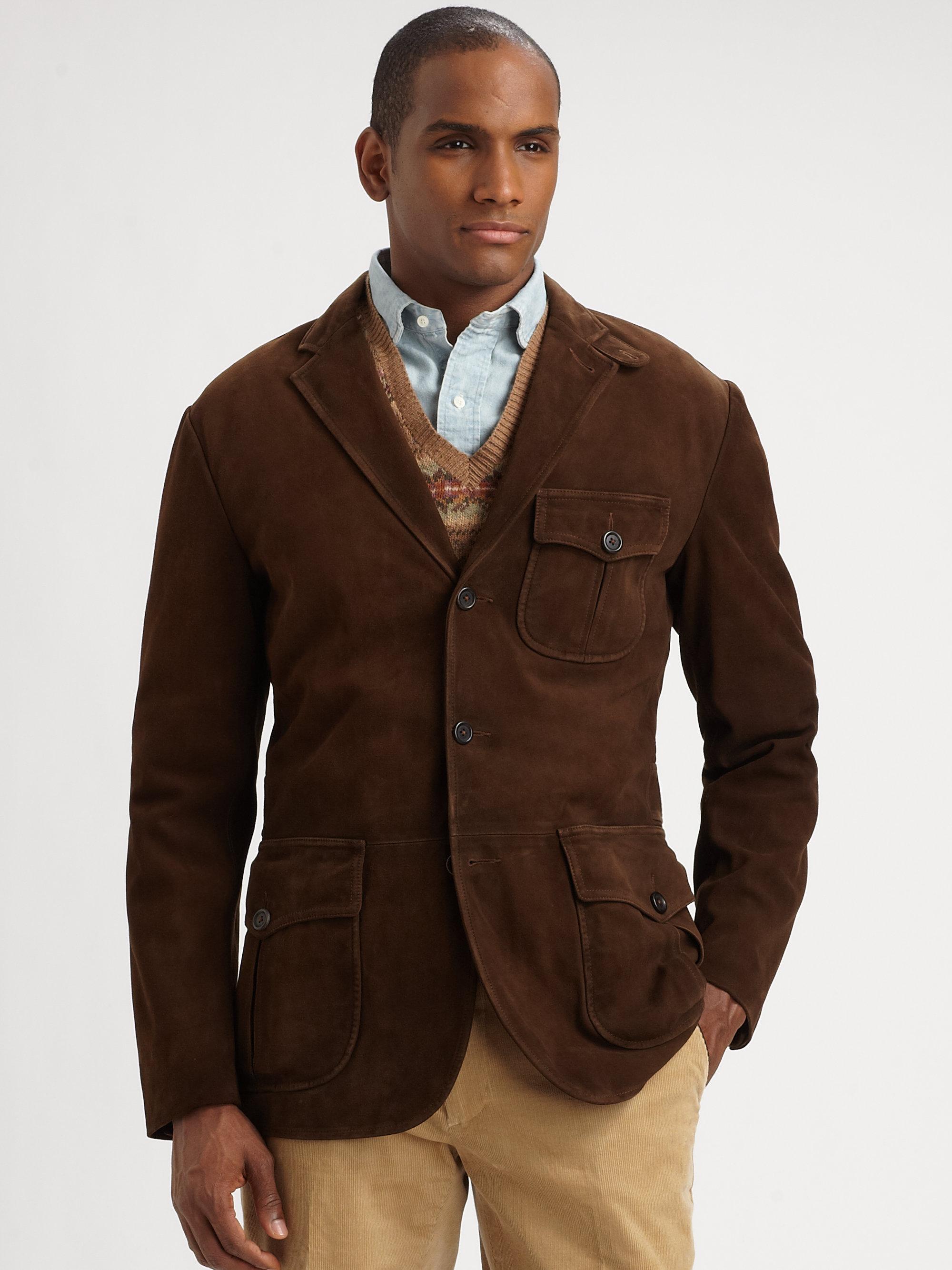 Polo ralph lauren Kempton Suede Sportcoat in Brown for Men | Lyst
