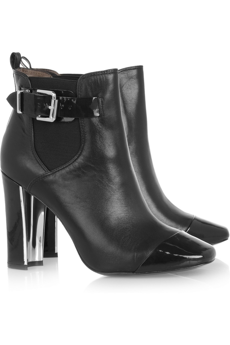 Pour la victoire Leather Ankle Boots in Black | Lyst