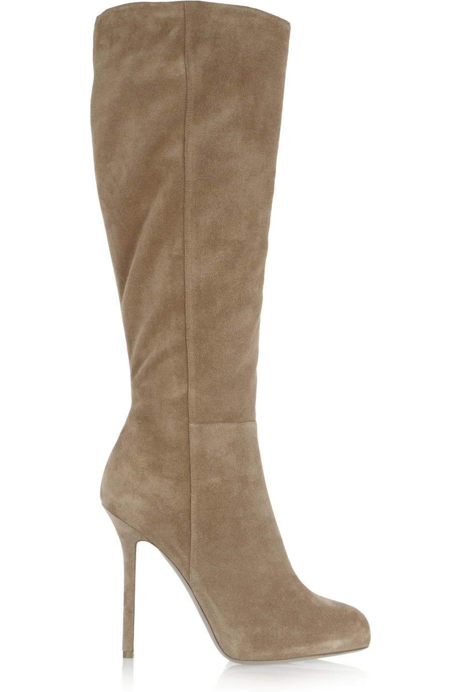 sergio suede knee boots in brown lyst