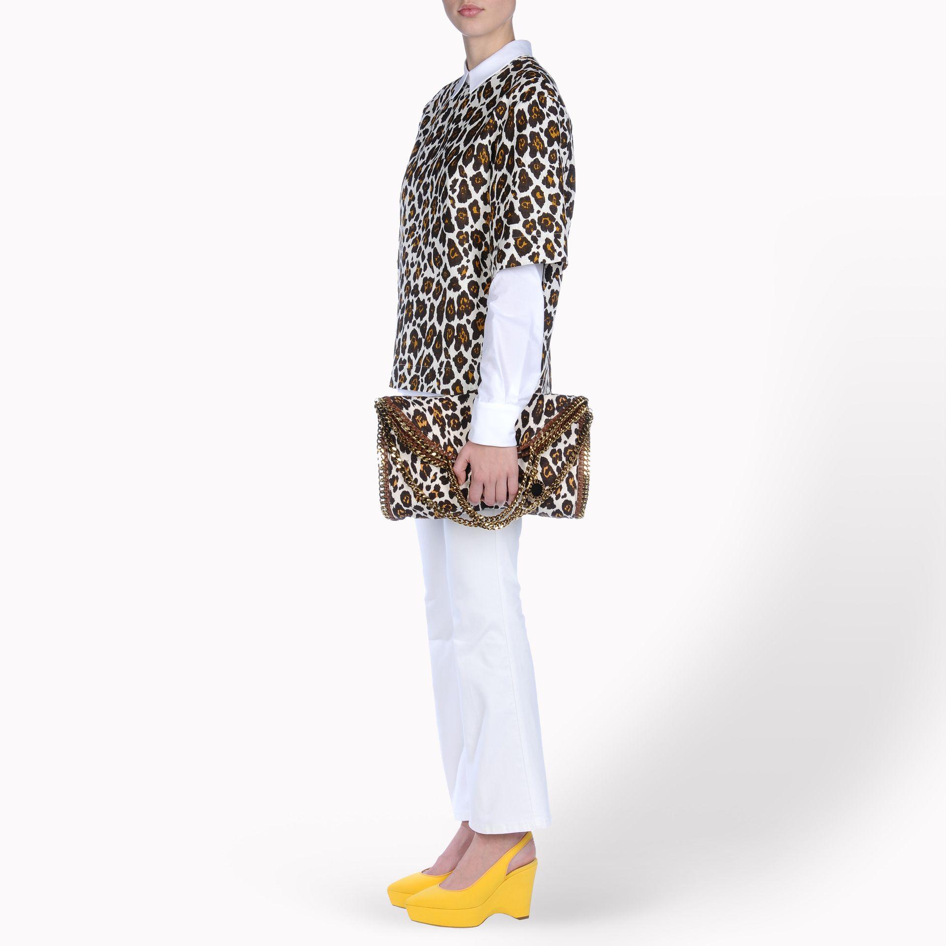 Stella McCartney Falabella Leopard Print Fold Over Tote