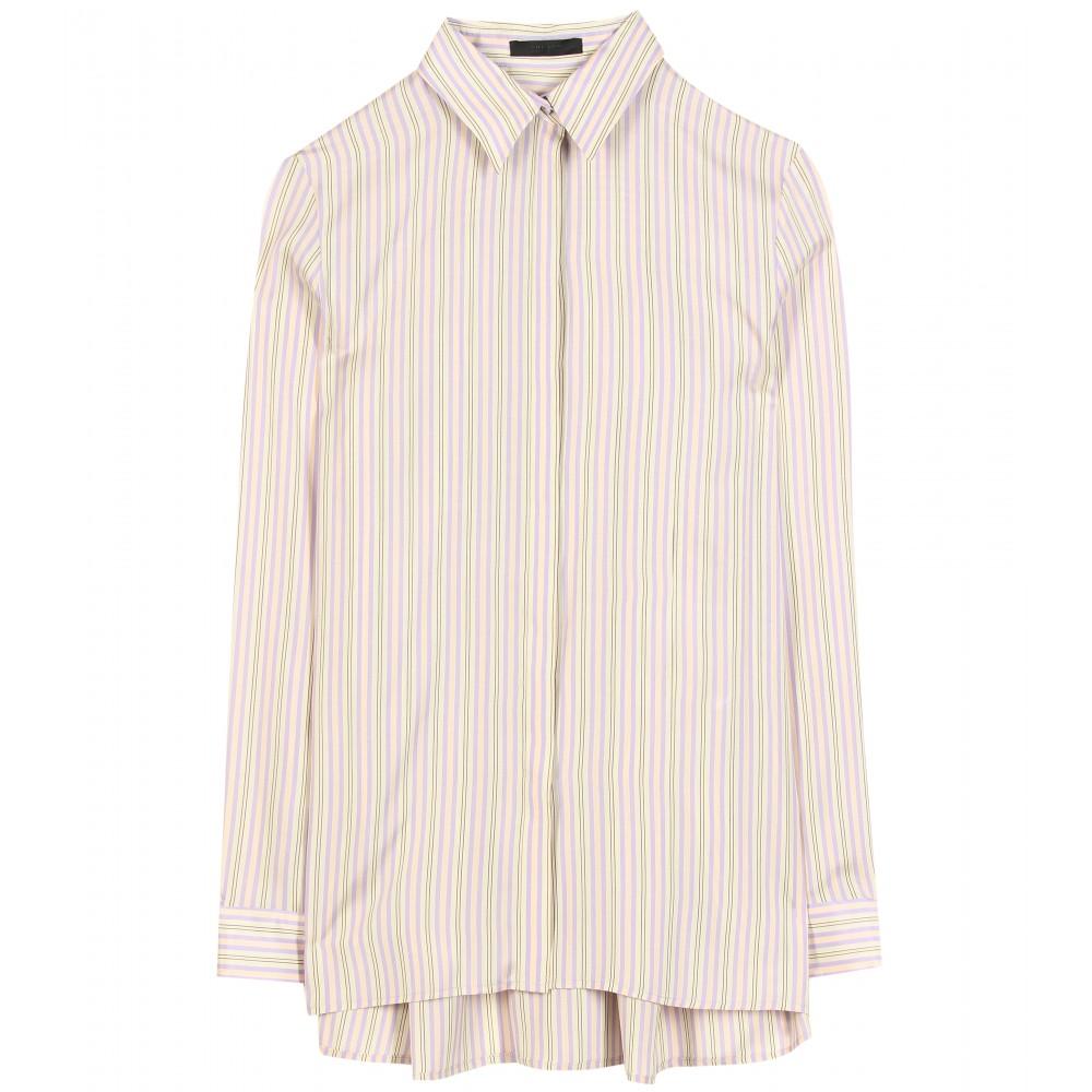 The Row Carlton Silk Button Down Shirt In Purple Lavender