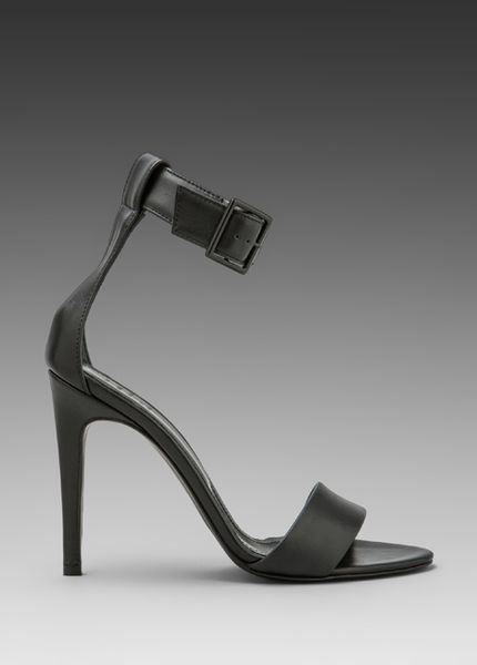 Tibi Ankle Strap Heels In Black Lyst