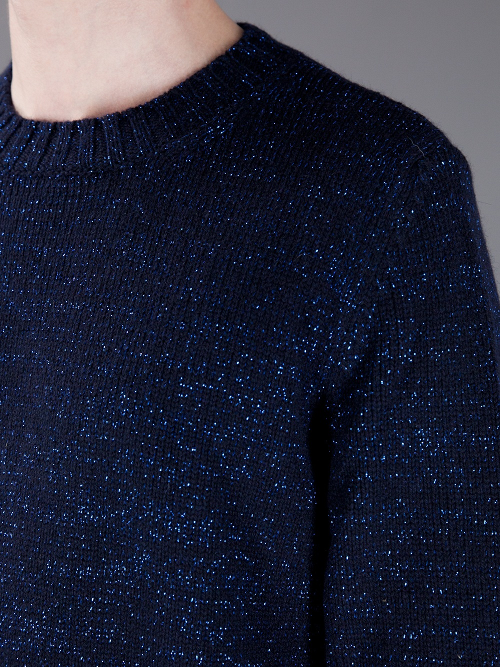 A.p.c. Mélange Knit Sweater in Blue for Men | Lyst