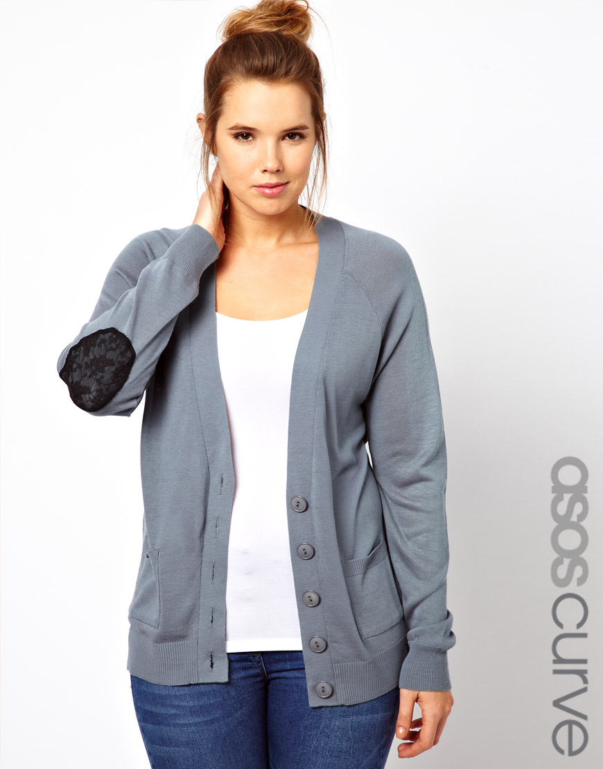 Elbow Patch Cardigan Women - ShopStyle