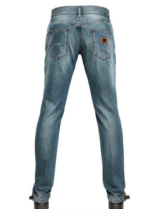 Dolce & Gabbana Destroyed Denim 14 Gold Jeans in Blue for Men