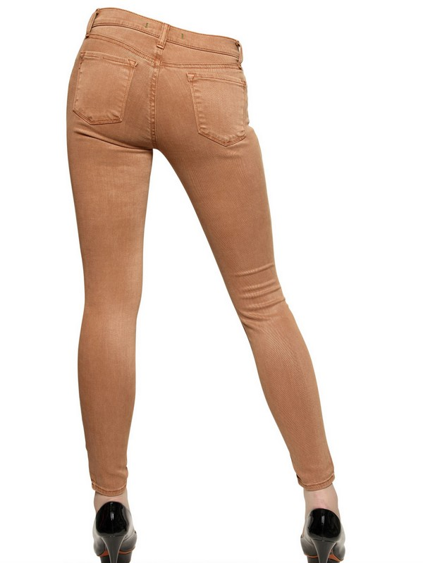 J Brand Stretch Denim Super Skinny Jeans in Tan (Brown)