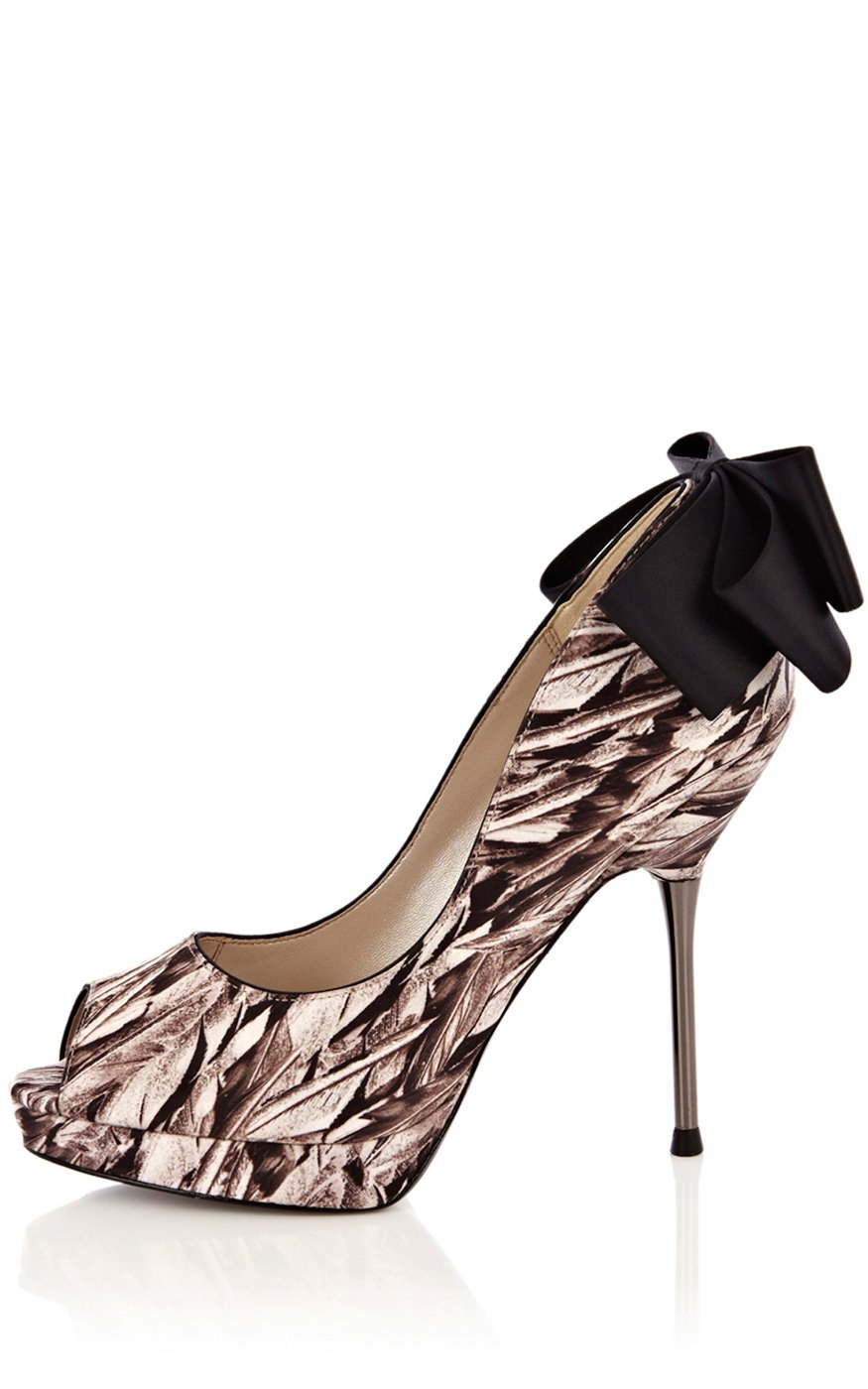 Karen Millen Feather Print Shoe Lyst