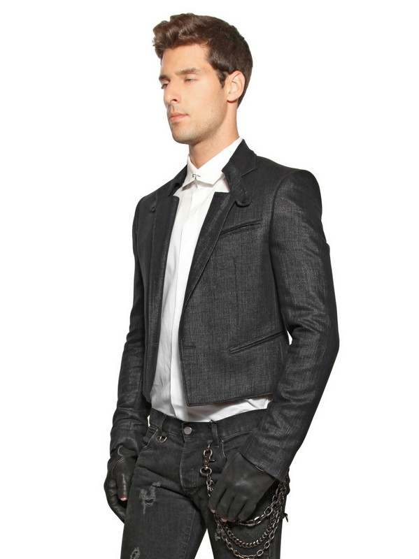Lyst Karl Lagerfeld Open Weave Cotton Nylon Spencer
