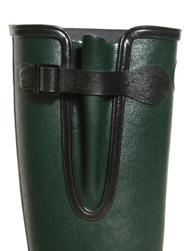 Le Chameau Waterproof Natural Rubber High Boots In Green