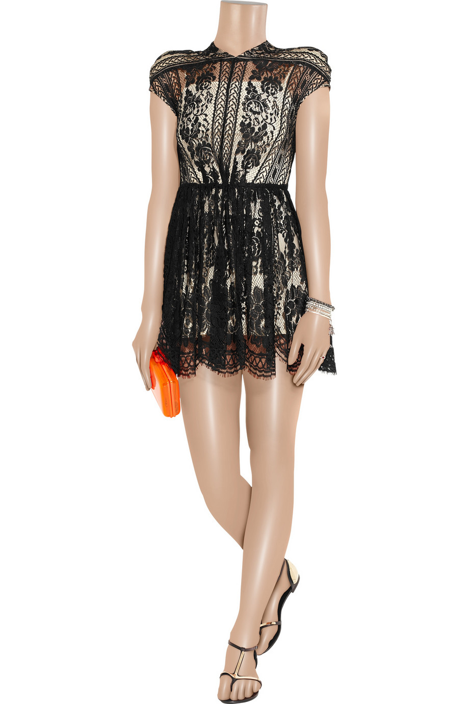 Lover Wiccan Lace Mini Dress In Black Lyst