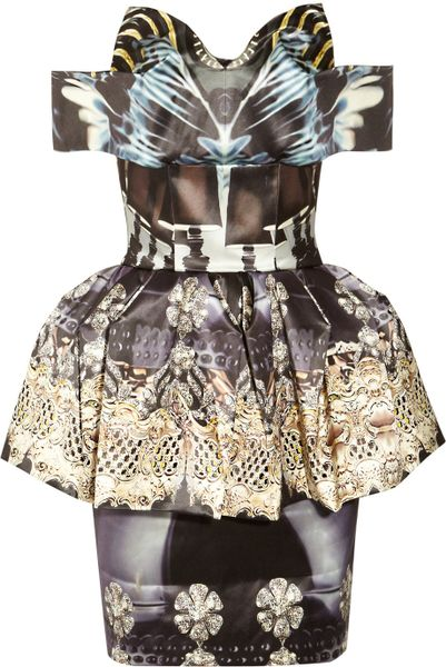 Mary Katrantzou Nebraska Printed Silk-blend Satin Dress in Multicolor (multicolored)