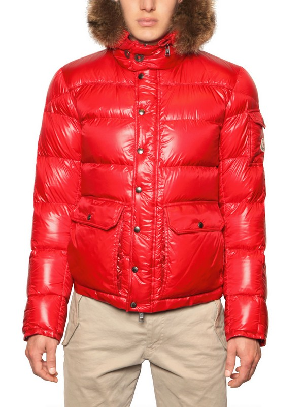 moncler red shiny