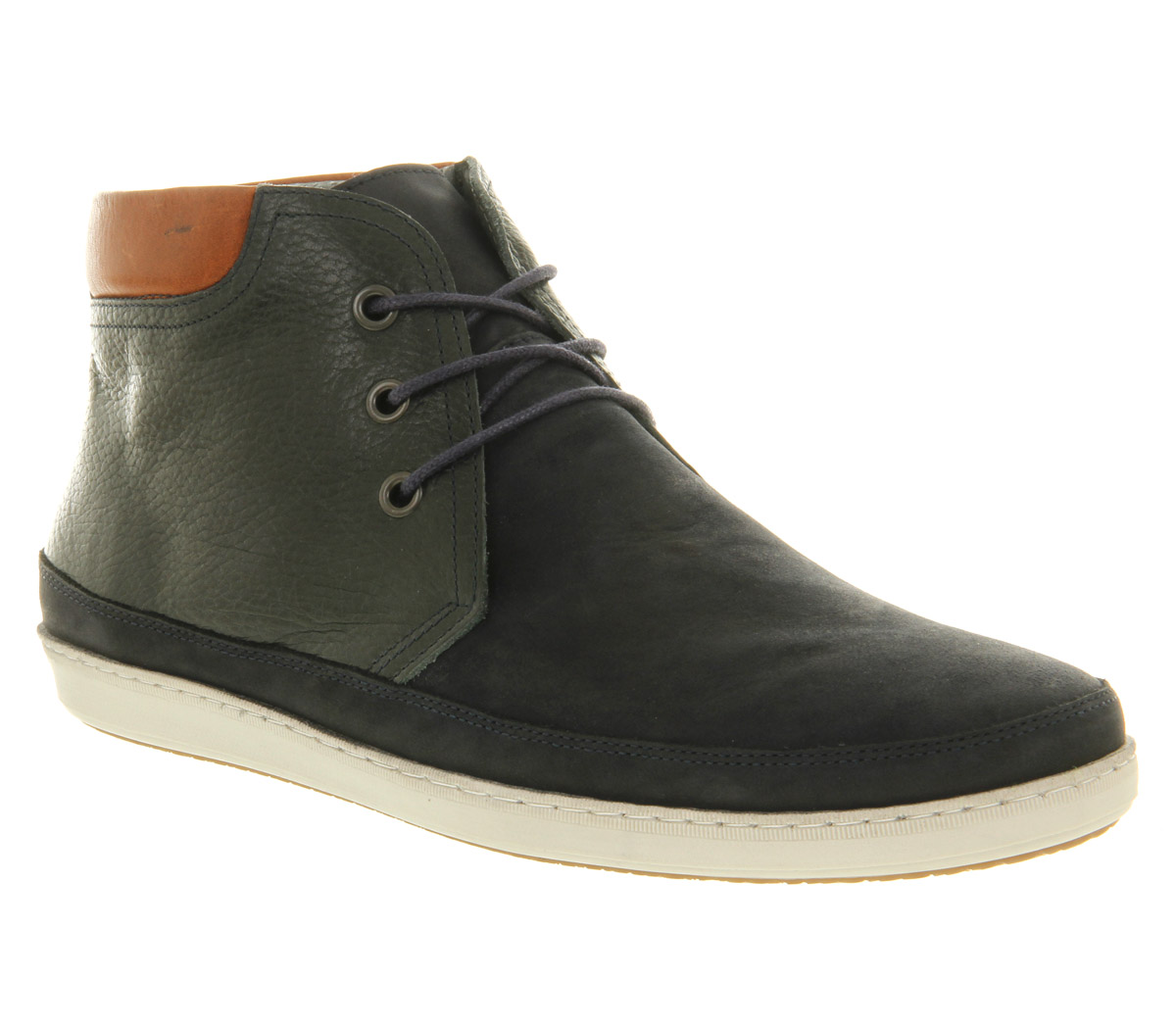 Office Skate Chukka Boot Navy Suede Mix in Blue for Men | Lyst