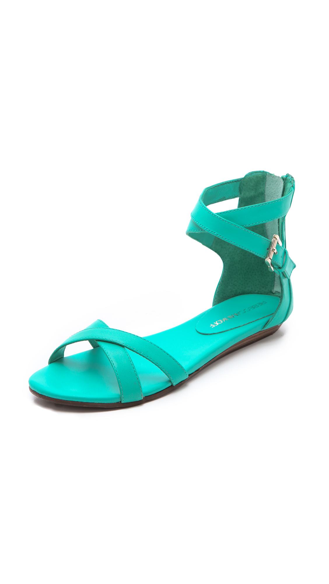 Lyst Rebecca Minkoff Bettina Flat Sandals In Green