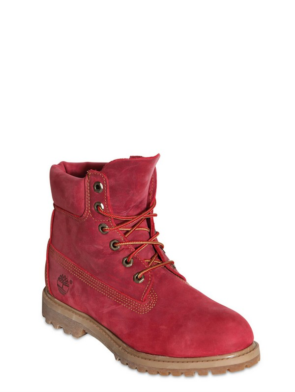Timberland 6 Inches Premium Nubuck Boots In Red Lyst