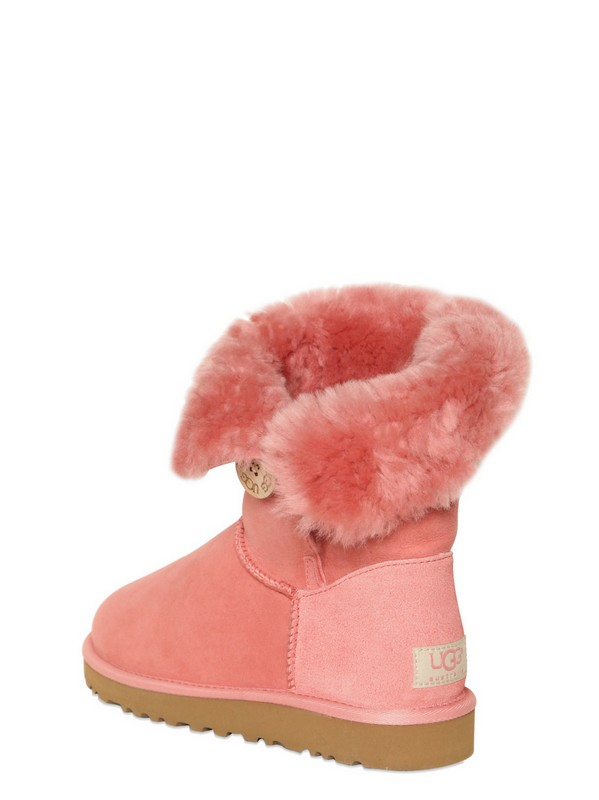 UGG Bailey Button Shearling Boots in Rose (Pink)