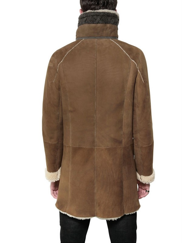V.sp Merinillo Wool with Shearling Jacket in Camel (Brown) for Men