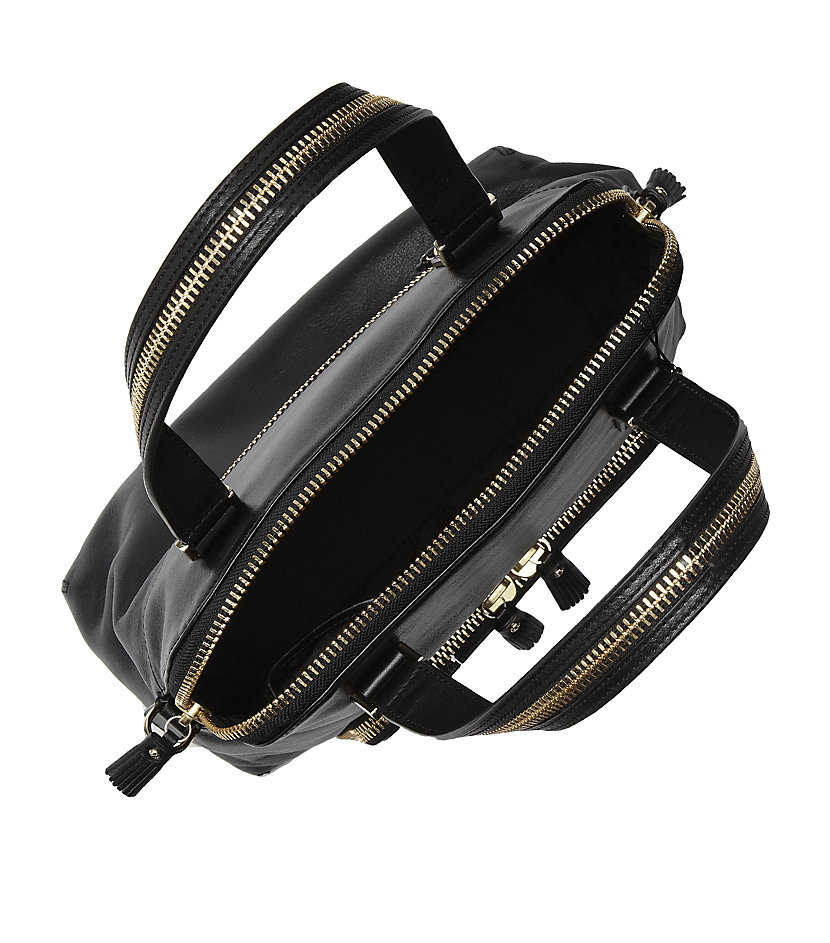 Anya Hindmarch Maxi Zip Rollin Tote in Gold (Black)