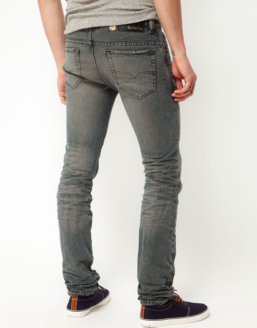 diesel jeans thavar slim fit texture exposure in grey