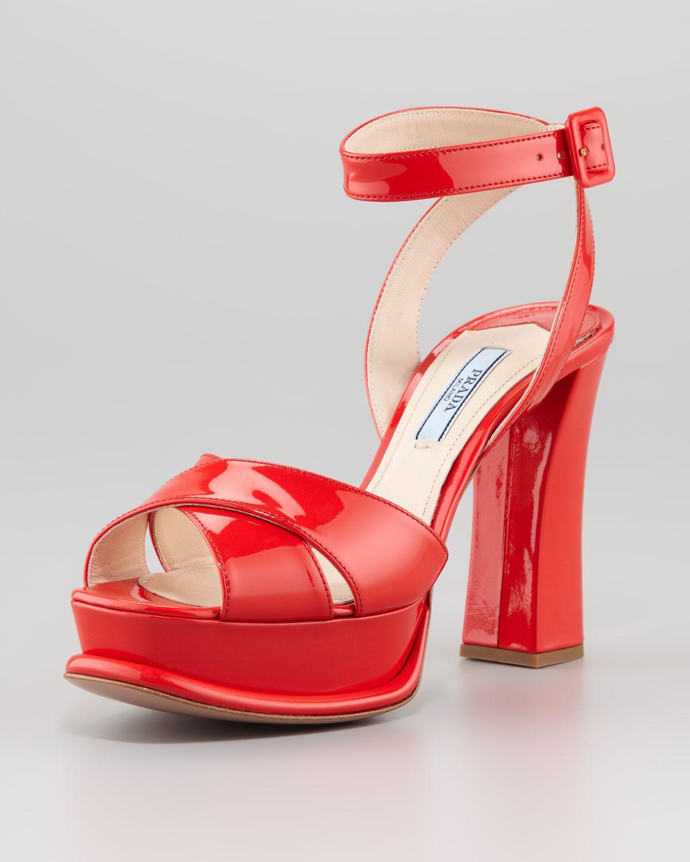 red platform sandal heels
