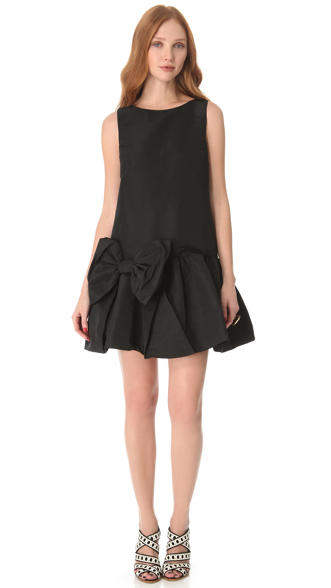lyst red valentino bow dress with dropped waist in black