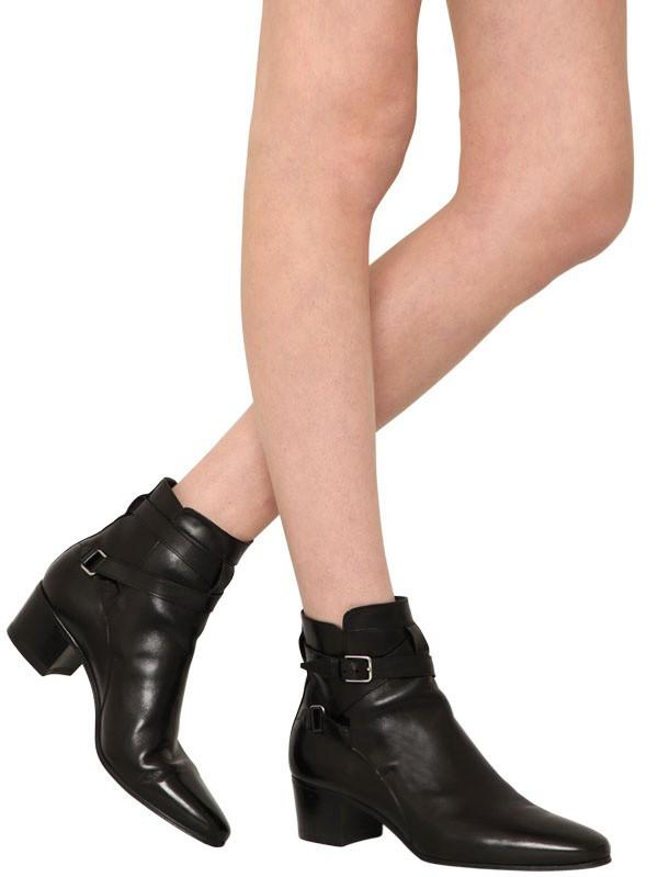 865bb1f325f Saint Laurent 30mm Saint Laurent Blake Leather Boots in Black - Lyst
