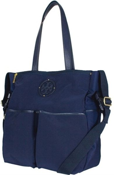 Tory Burch Stacked Logo Billy Baby Bag In Blue Lyst